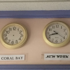 The local joke ... Coral Bay on St. John doesn't care about time.