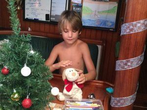 Malachi preparing for the holiday