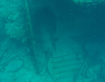 The massive propeller (the anchor, which they lost off Peter Island, weighed 3,000 lbs)