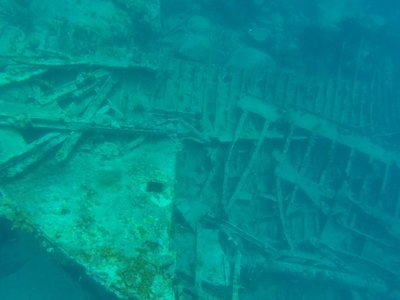 The wreck of the RMS Rhone
