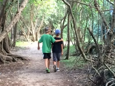 The boys on the hike