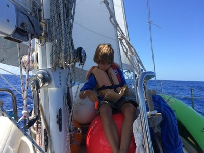 Malachi, in heaven because he can read while we sail