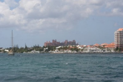 I assumed the tall buildings were the city center. No, Matt says. THAT is Atlantis.
