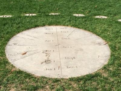 The Earth Clock in Burlington, VT